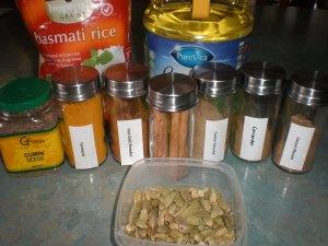 Main Ingredients;Basmati Rice, Cooking Oil, Cumin Seeds, Hot Chilli Powder, Cinnamon Sticks, Ground Coriander, Ground Cumin, Garam Masala, Cardamom Pods