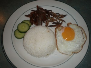 Mast. 10's Breakfast:Nasi Lemak with Fried Egg