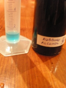 50 Drops of Rubbing Alcohol < 1.6ml