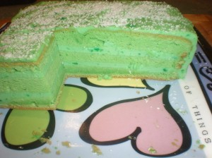 Inside view of Pandan Layer Cake.