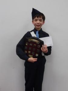 Boys' Brigade Rookie of the Year 2014 Awarded to the best first-year Senior Section Boy The award is in memory of a boy who was killed after his first year at Boys' Brigade