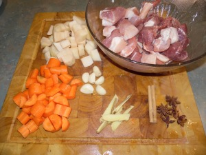 Hong Shao Rou ingredients