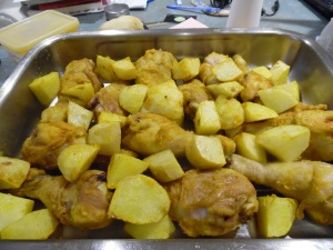 Chicken and Potatoes ready to go in oven