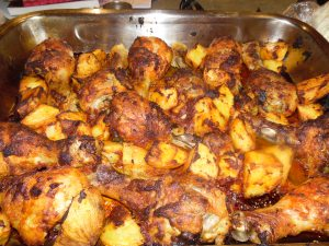 Spicy Tomato Chicken Drumsticks with Potatoes