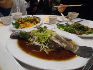 Steamed Barramundi with Ginger and Soy Sauce
