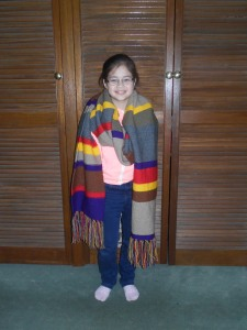 Lizzie with Dr Who Scarf