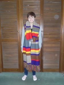 Susannah with Dr Who scarf