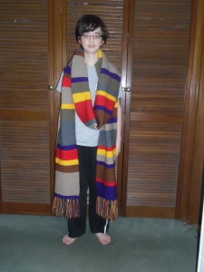 Ben with Dr Who Scarf