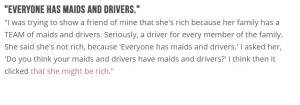 Maids and Drivers